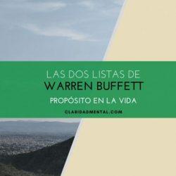 warren buffet productividad dos listas