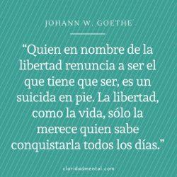 Johann Goethe frases sobre la libertad y estoicismo