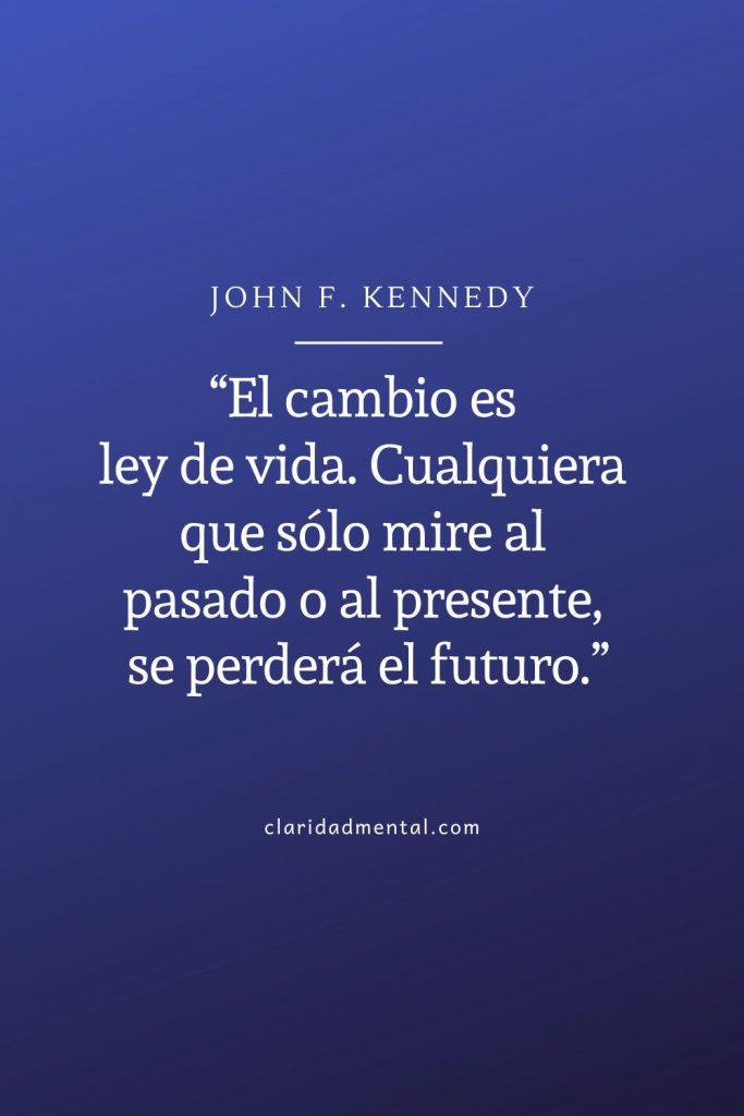 John . Kennedy frases de realización personal