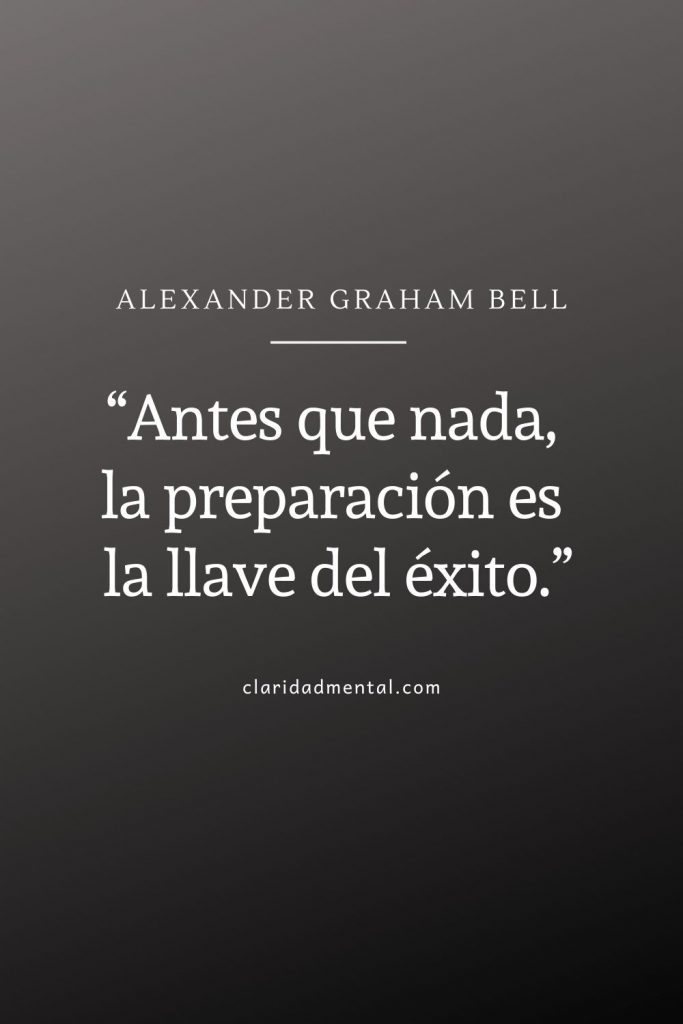 Alexander Graham Bell frases de exito