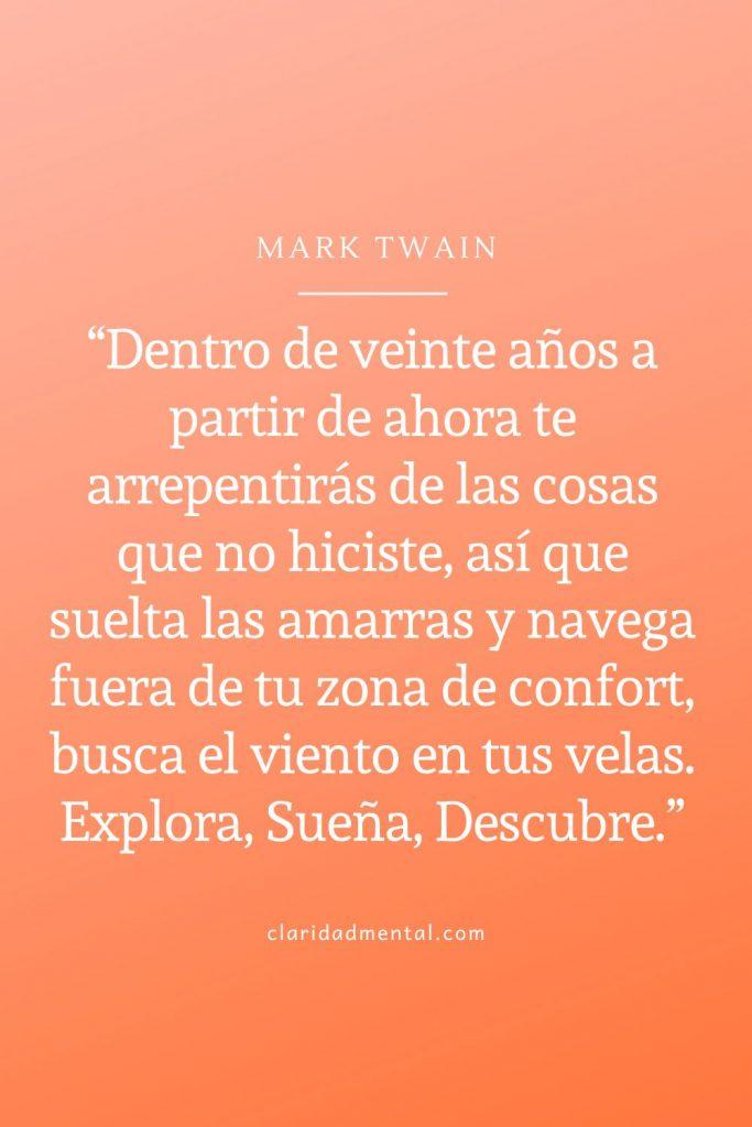 frases de Mark Twain motivación