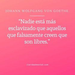 Frases de libertad Johann Wolfgang Von Goethe