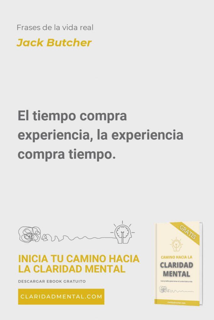 Jack Butcher: El tiempo compra experiencia, la experiencia compra tiempo.